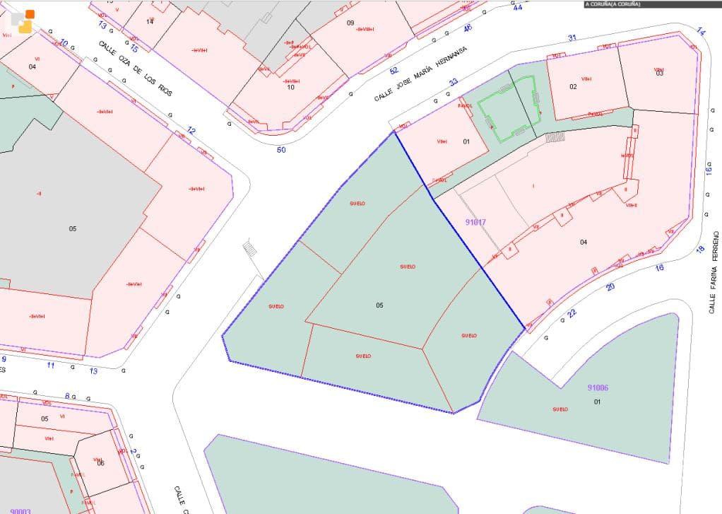 Suelo en venta en A Coruña, A Coruña, Calle de Oza, 266.475 €, 694 m2