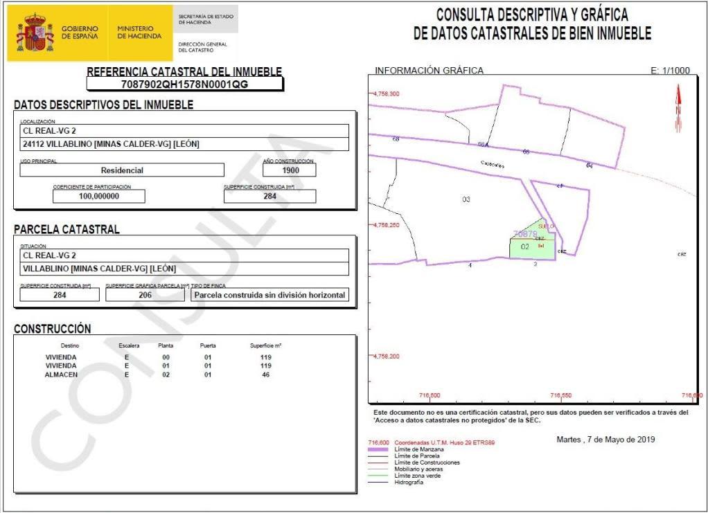Industrial en venta en Villager de Laciana, Villablino, León, Calle Real, 60.800 €, 240 m2
