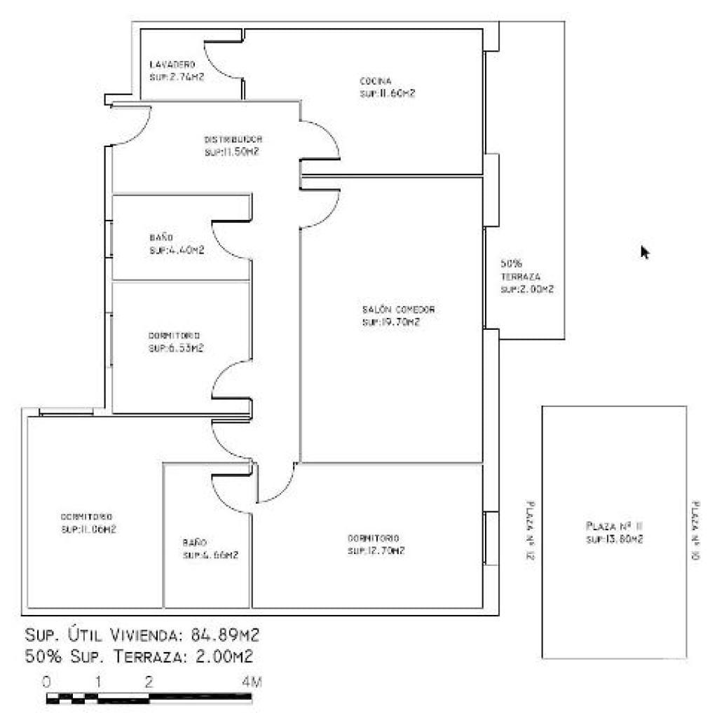 Piso en venta en La Colònia, Calaf, Barcelona, Avenida Josep Miro, 75.700 €, 3 habitaciones, 2 baños, 98 m2