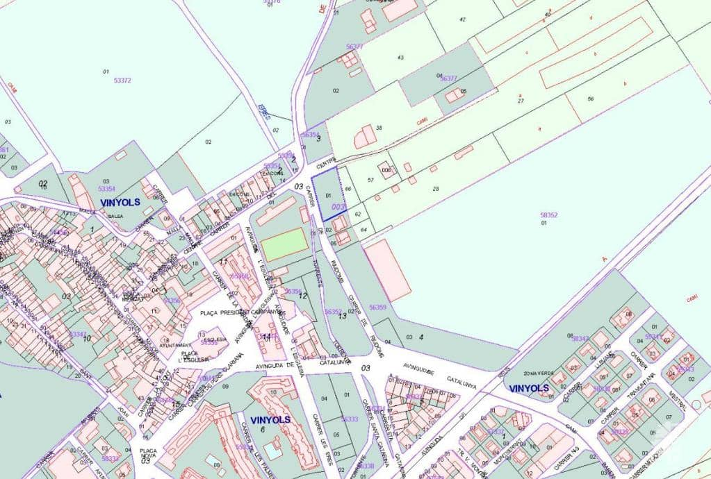 Suelo en venta en Vinyols I Els Arcs, Vinyols I Els Arcs, Tarragona, Calle Carrera Riudoms (de), 105.910 €, 1413 m2