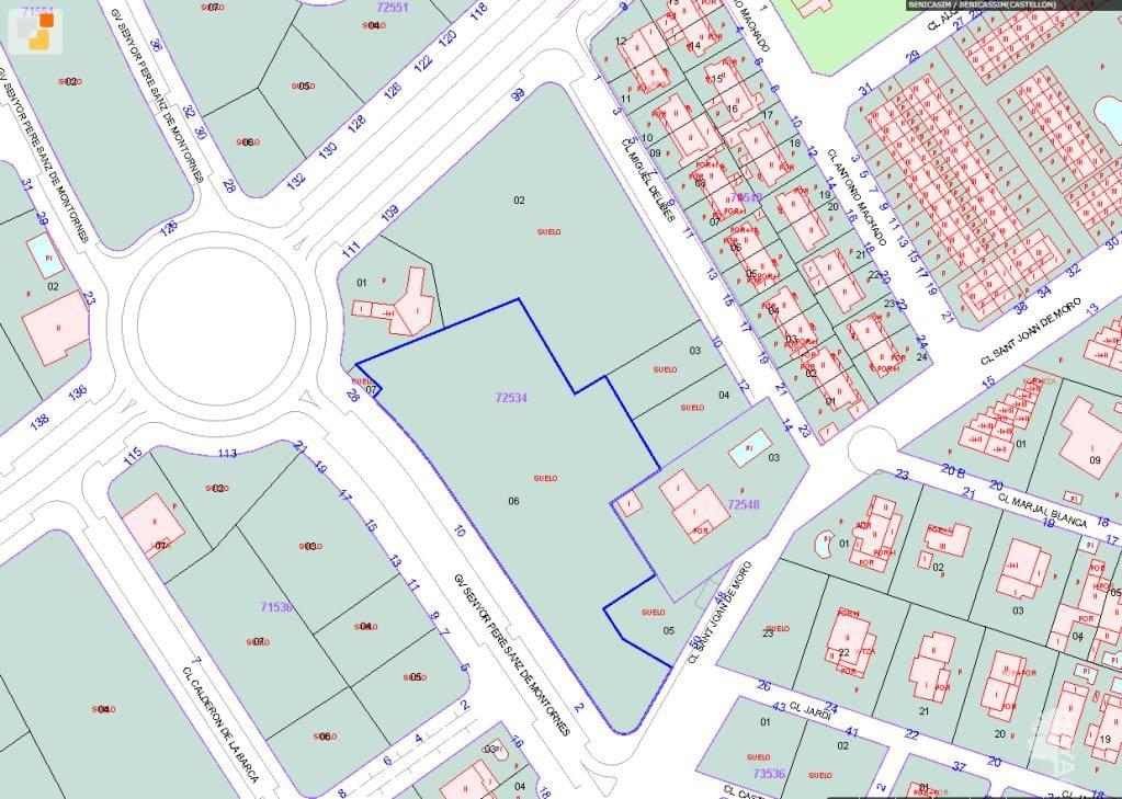 Suelo en venta en Cuadro Santiago, Benicasim/benicàssim, Castellón, Calle Sr. Pere Sanz de Montornes, 922.600 €, 4886 m2