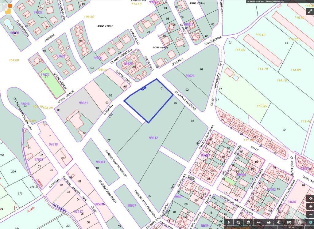 Suelo en venta en La Pobla de Vallbona, Valencia, Calle Vicario Camarena, 910.900 €, 3678 m2