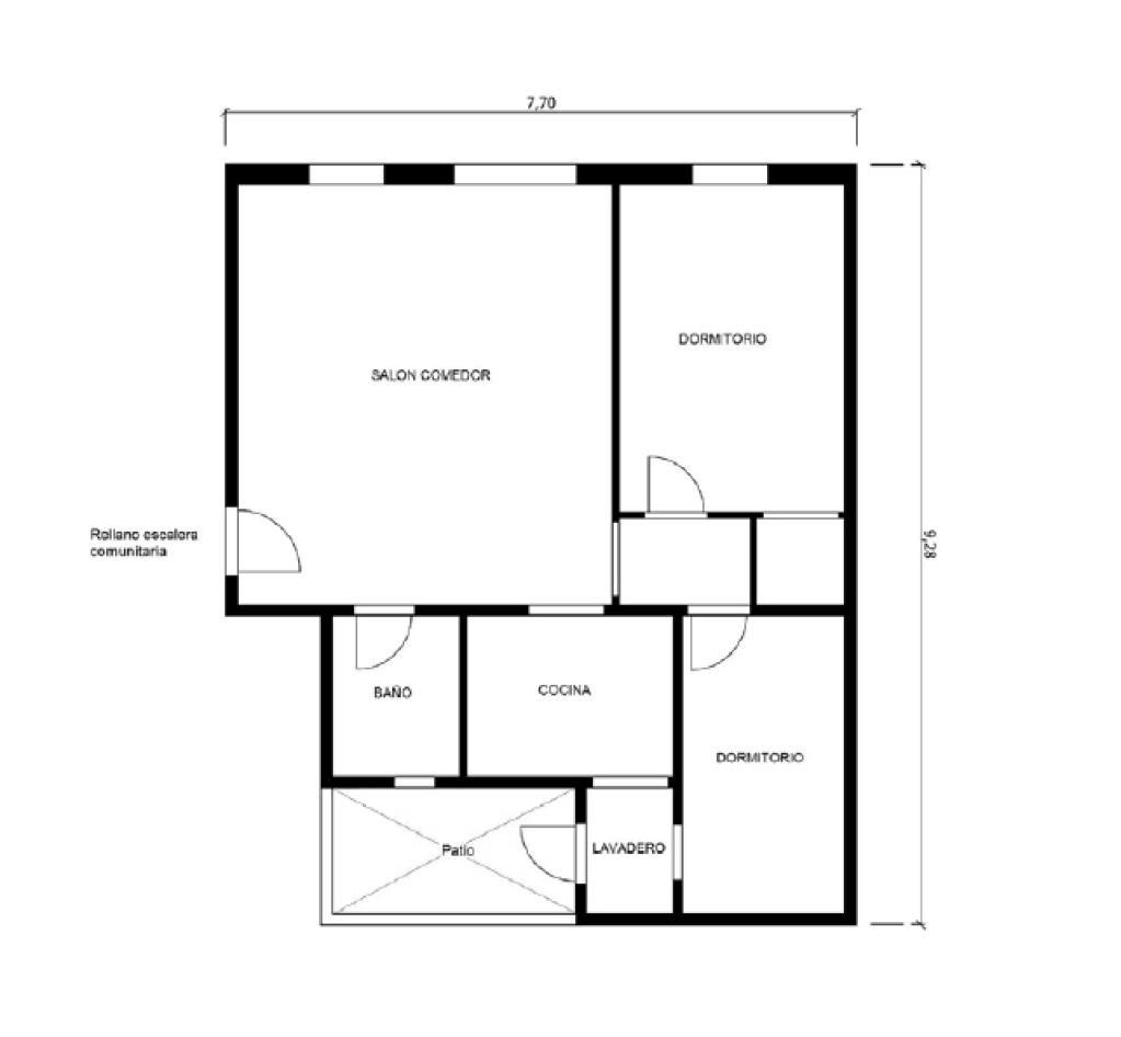Piso en venta en Granollers, Barcelona, Calle Frederic Mompou, 75.114 €, 2 habitaciones, 1 baño, 53 m2