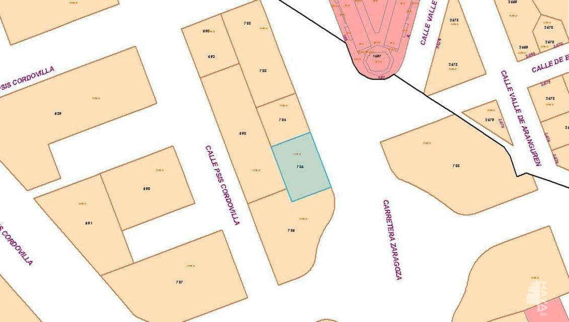 Suelo en venta en Milagrosa, Galar, Navarra, Calle Industrial Cordovilla, 191.800 €, 806 m2