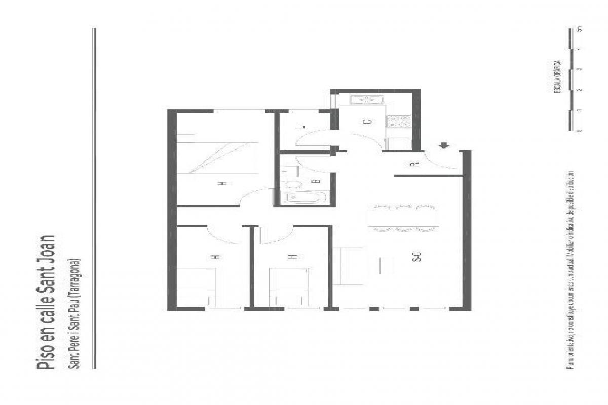 Casa en venta en Lleida, Lleida, Calle Mariola Gardeny, 84.000 €, 3 habitaciones, 1 baño, 86 m2