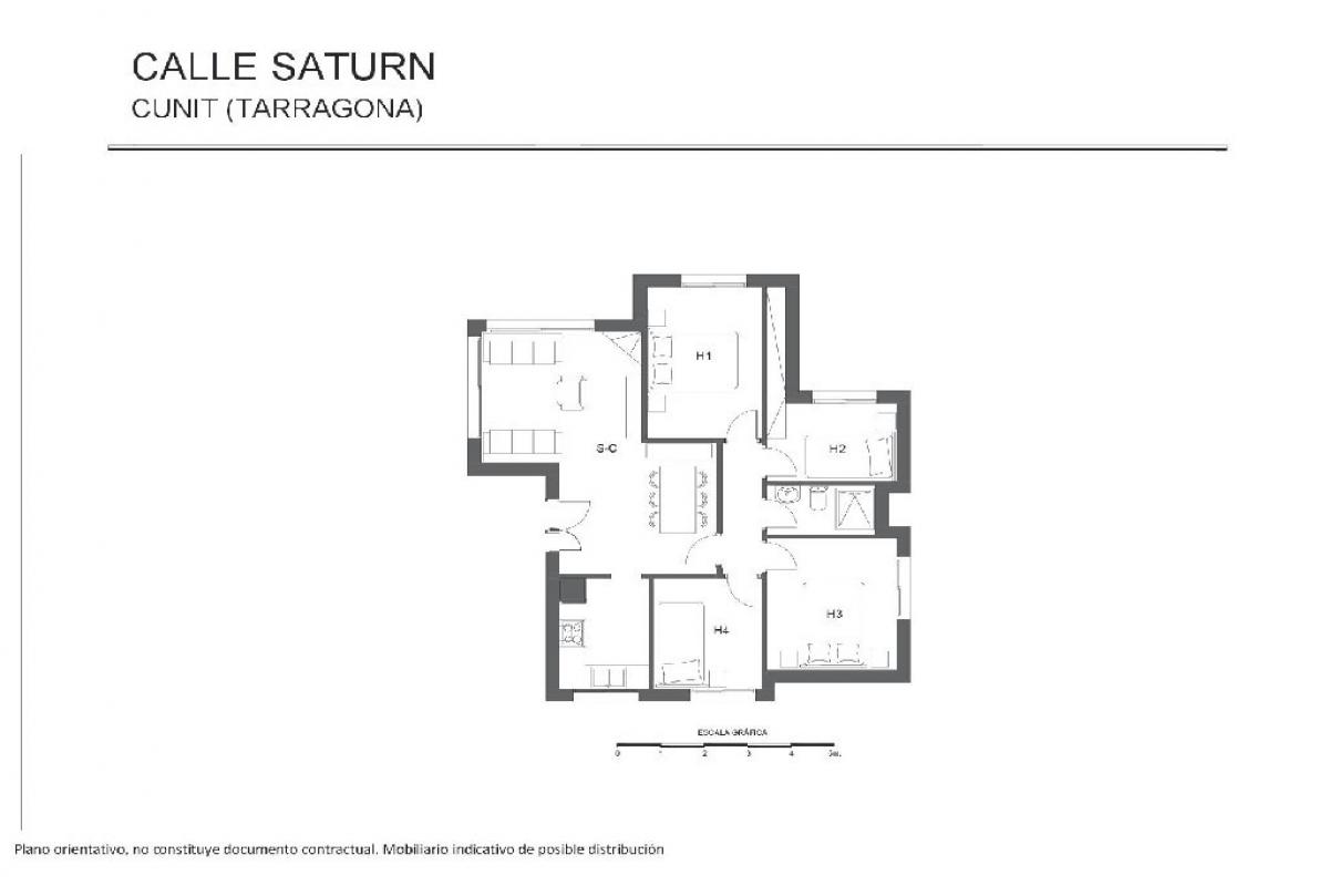 Casa en venta en Cunit, Tarragona, Calle Saturn, 154.000 €, 4 habitaciones, 1 baño, 171 m2