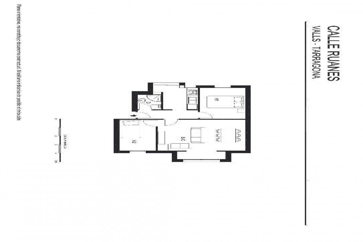 Piso en venta en Valls, Tarragona, Calle Ruanes, 32.000 €, 2 habitaciones, 1 baño, 58 m2