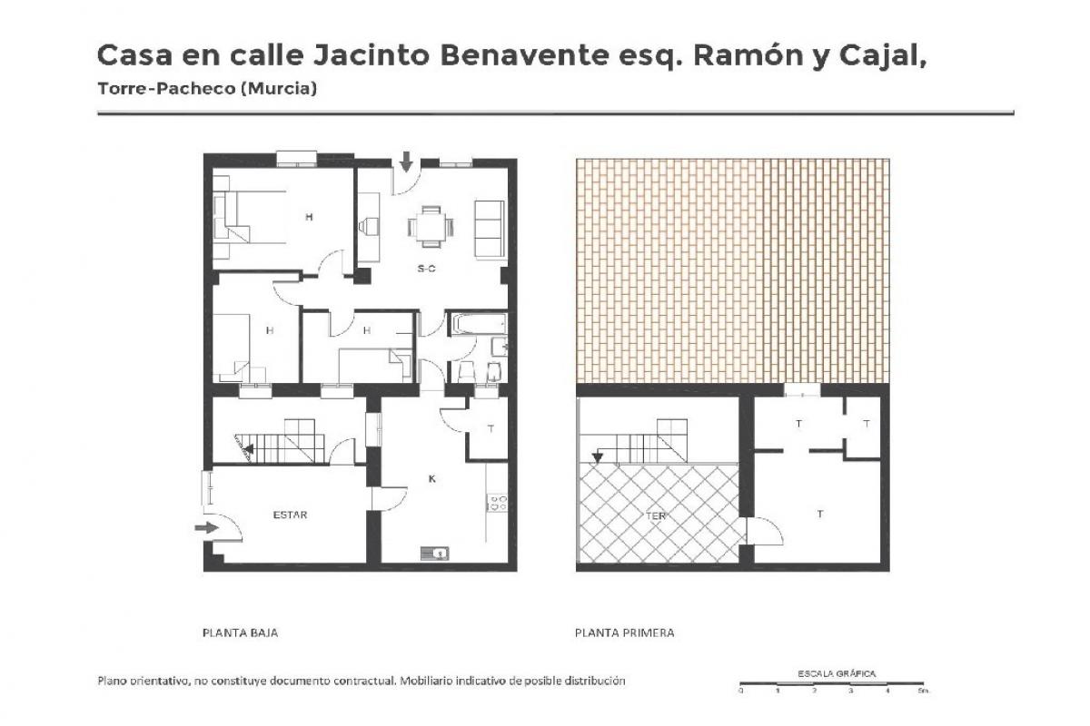Casa en venta en Torre-pacheco, Murcia, Calle Jacinto Benavente, 60.500 €, 4 habitaciones, 1 baño, 98 m2