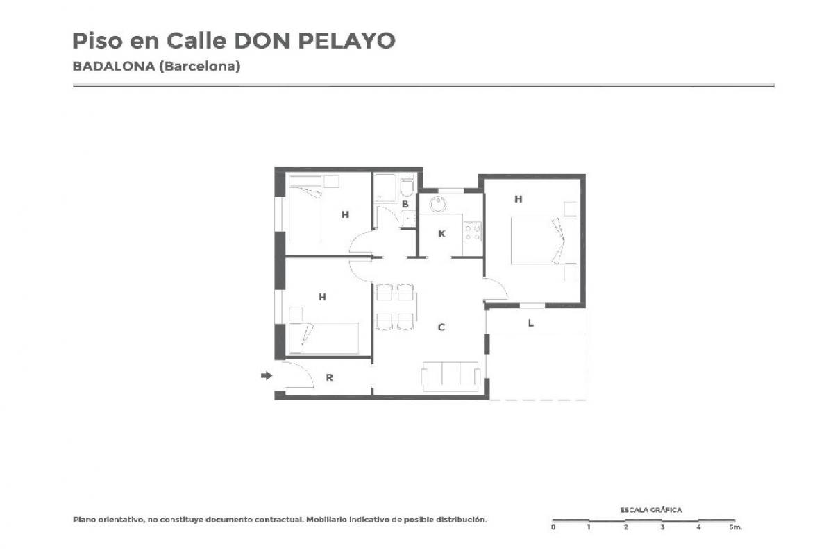 Piso en venta en Badalona, Barcelona, Calle Don Pelayo, 103.500 €, 3 habitaciones, 1 baño, 57 m2
