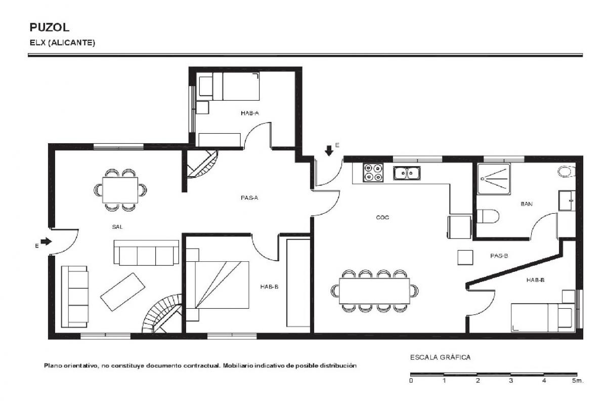 Casa en venta en Elche/elx, Alicante, Calle Puzol, 80.500 €, 3 habitaciones, 1 baño, 92 m2