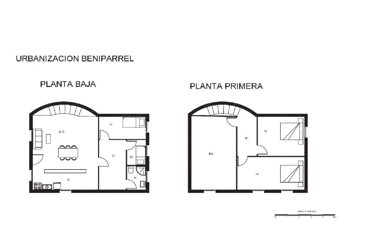 Casa en venta en Onda, Castellón, Urbanización Beniparrell, 40.000 €, 4 habitaciones, 1 baño, 115 m2