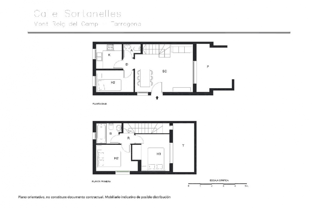 Casa en venta en Miami Platja, Mont-roig del Camp, Tarragona, Calle Les Sortanelles, 104.500 €, 3 habitaciones, 2 baños, 100 m2