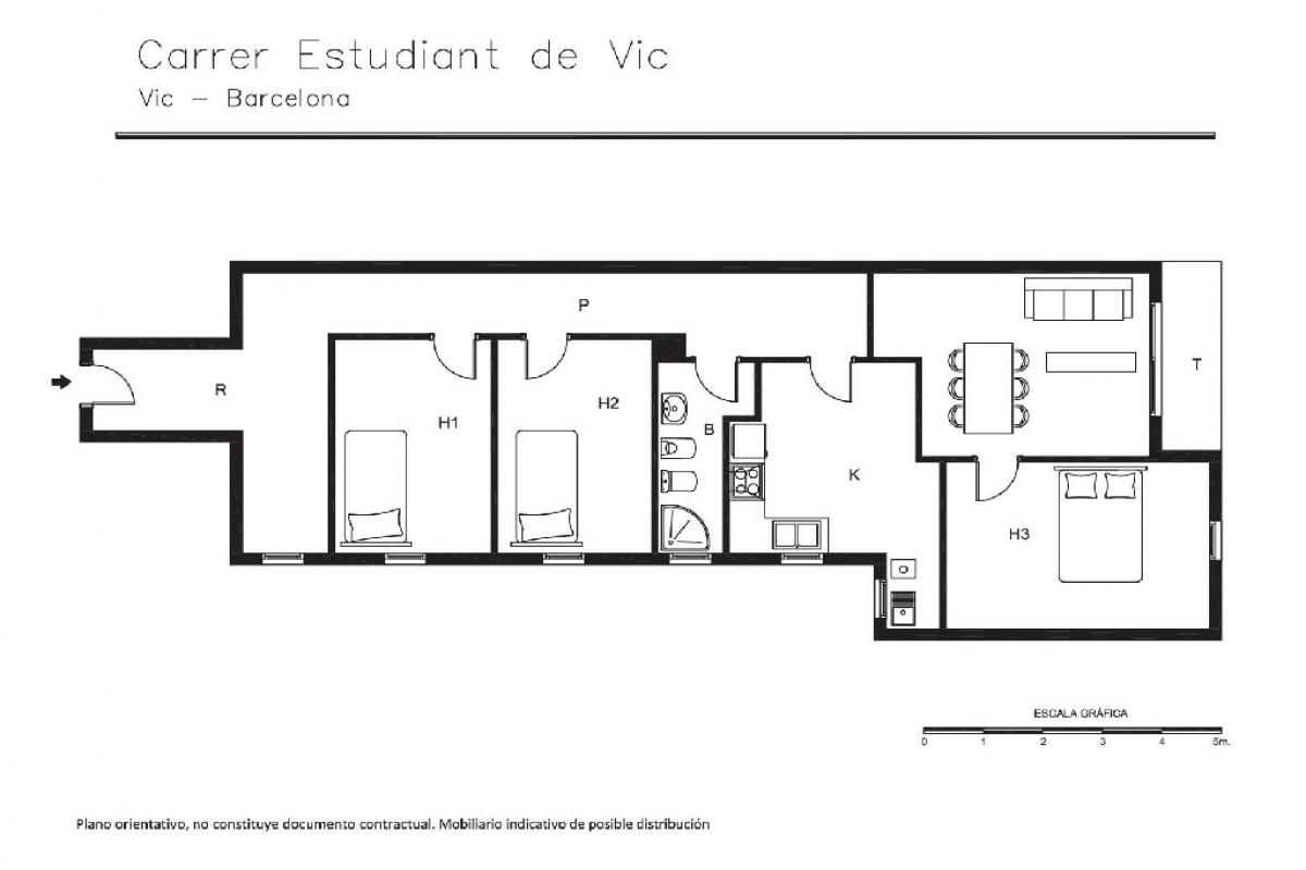 Piso en venta en Vic, Barcelona, Calle Estudiant Vic, 110.000 €, 3 habitaciones, 1 baño, 113 m2