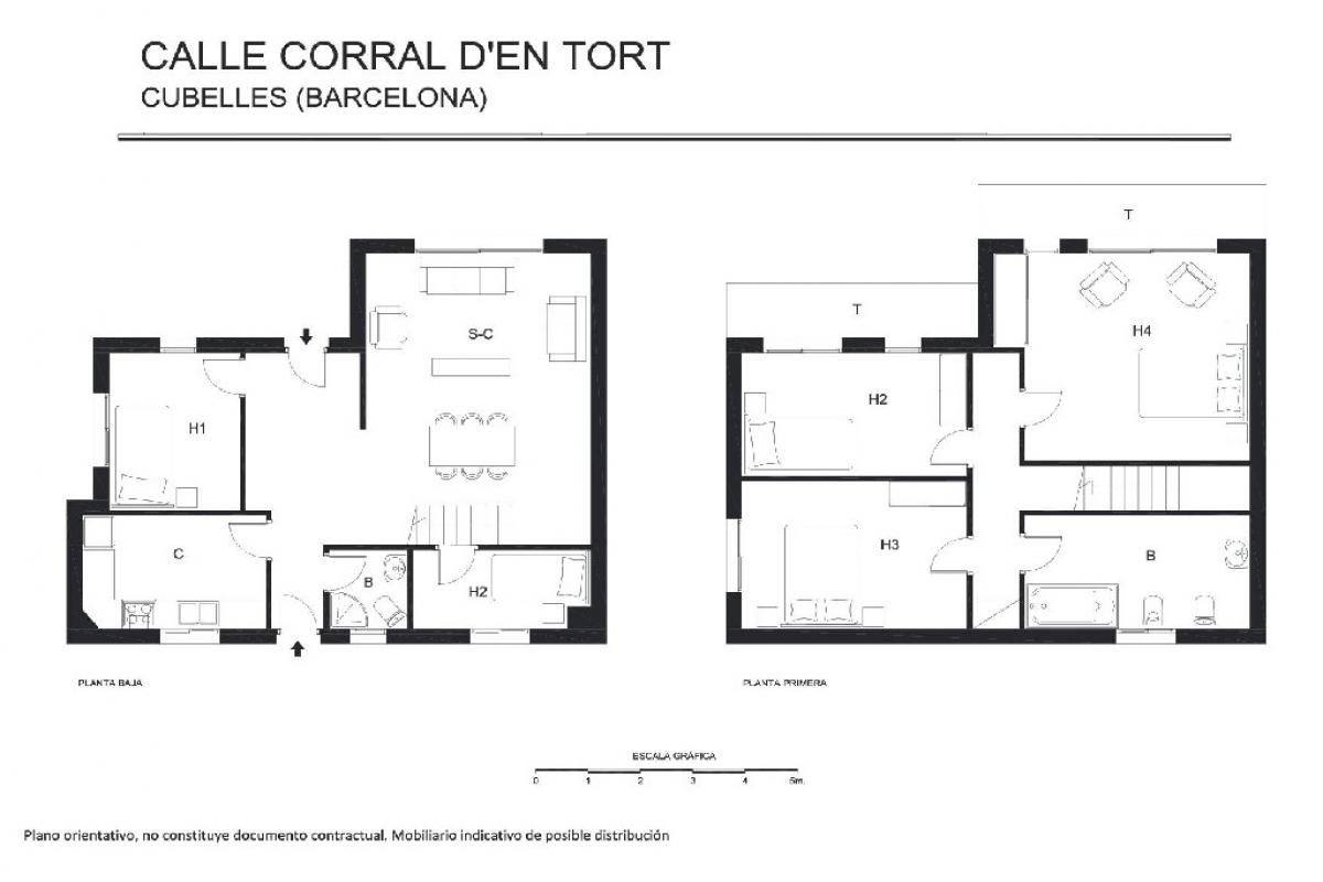Casa en venta en Cubelles, españa, Calle Corral D`en Tort, 206.000 €, 5 habitaciones, 2 baños, 194 m2