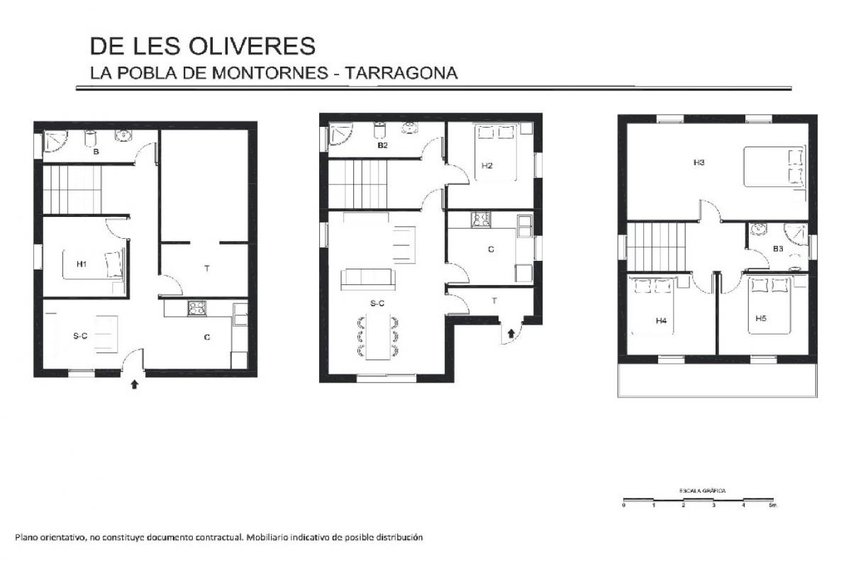 Casa en venta en La Pobla de Montornès, españa, Calle de Les Oliveres, 145.500 €, 5 habitaciones, 2 baños, 153 m2