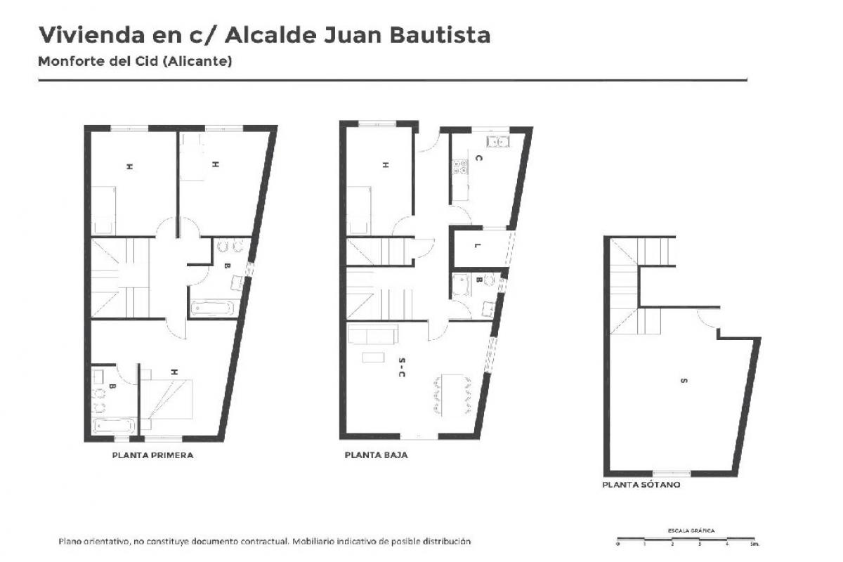Casa en venta en Monforte del Cid, Alicante, Calle Alcalde Juan Bautista Pina, 114.500 €, 4 habitaciones, 3 baños, 217 m2