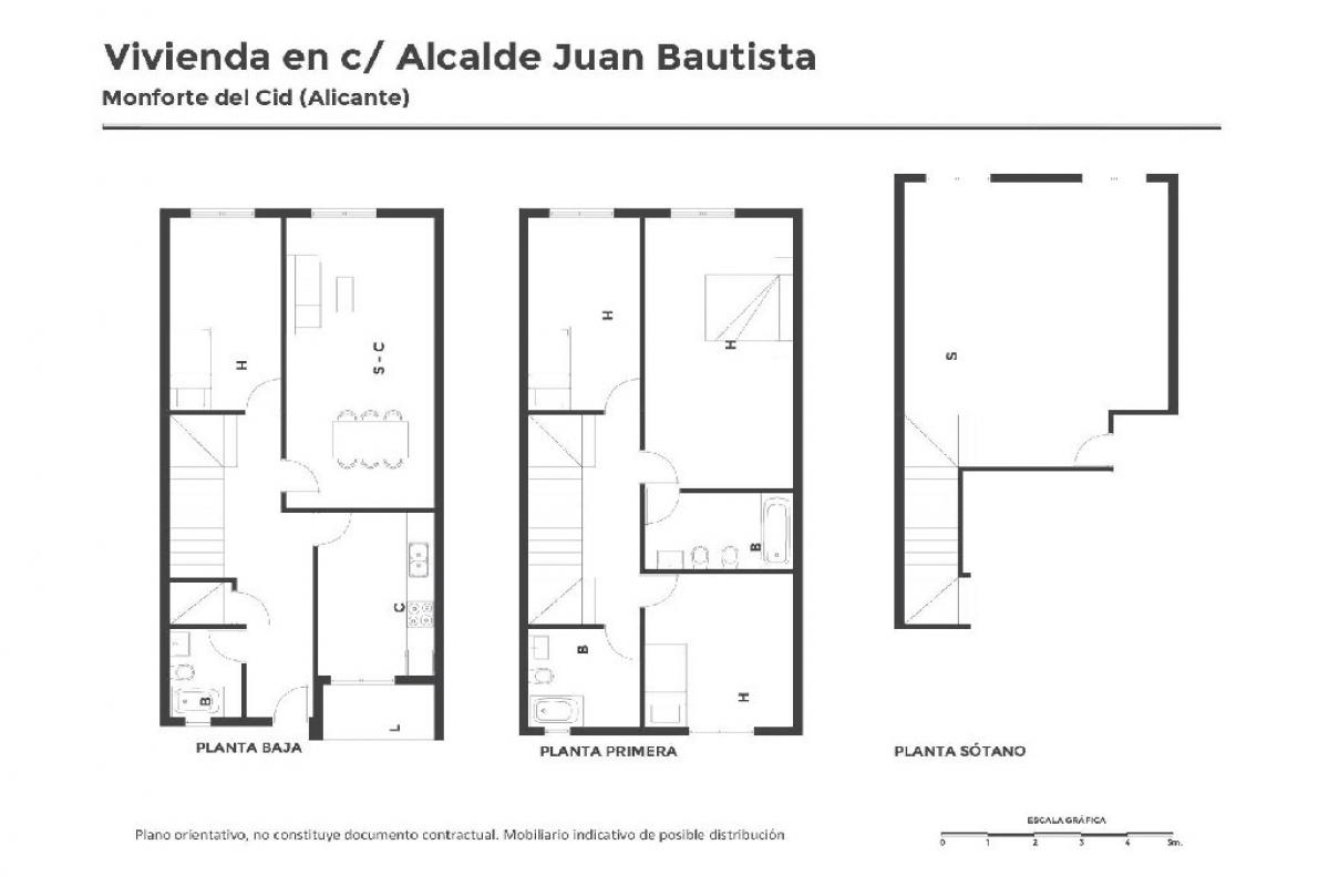 Casa en venta en Monforte del Cid, españa, Calle Alcalde Juan Bautista Pina, 108.000 €, 4 habitaciones, 3 baños, 226 m2