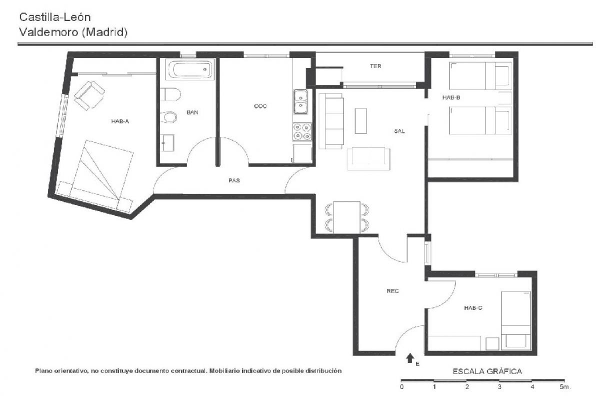 Piso en venta en Paiporta, Valencia, Calle Catarroja, 84.000 €, 3 habitaciones, 1 baño, 80 m2