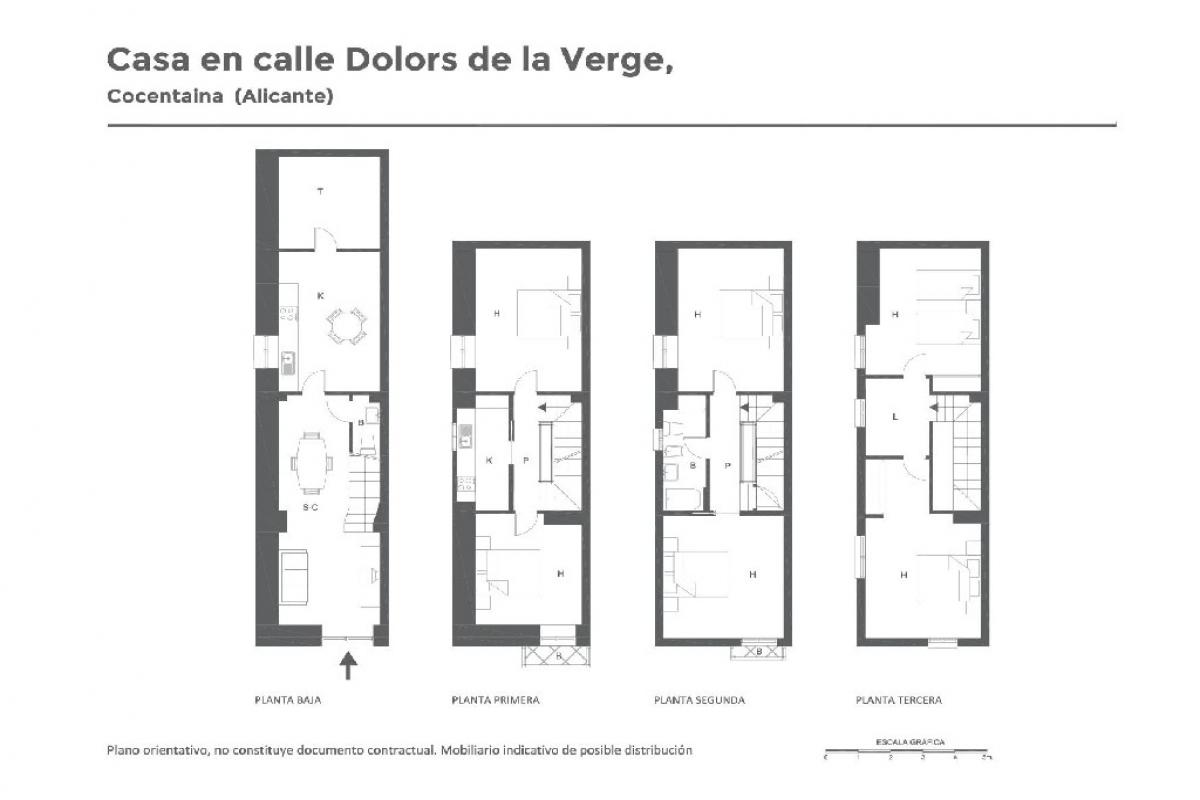 Casa en venta en Alicante/alacant, Alicante, Calle Dolors de la Verge, 30.000 €, 6 habitaciones, 2 baños, 223 m2