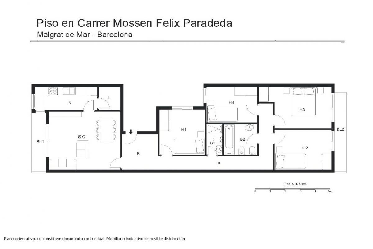 Piso en venta en Malgrat de Mar, Barcelona, Calle Mossen Felix Paradeda, 175.000 €, 4 habitaciones, 2 baños, 104 m2