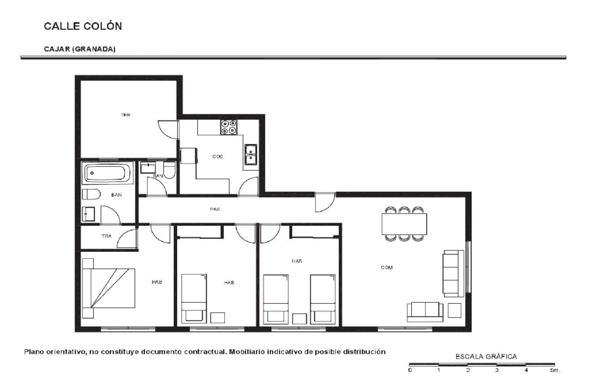 Piso en venta en Bellavista, Cájar, Granada, Calle Colon, 58.000 €, 3 habitaciones, 2 baños, 99 m2