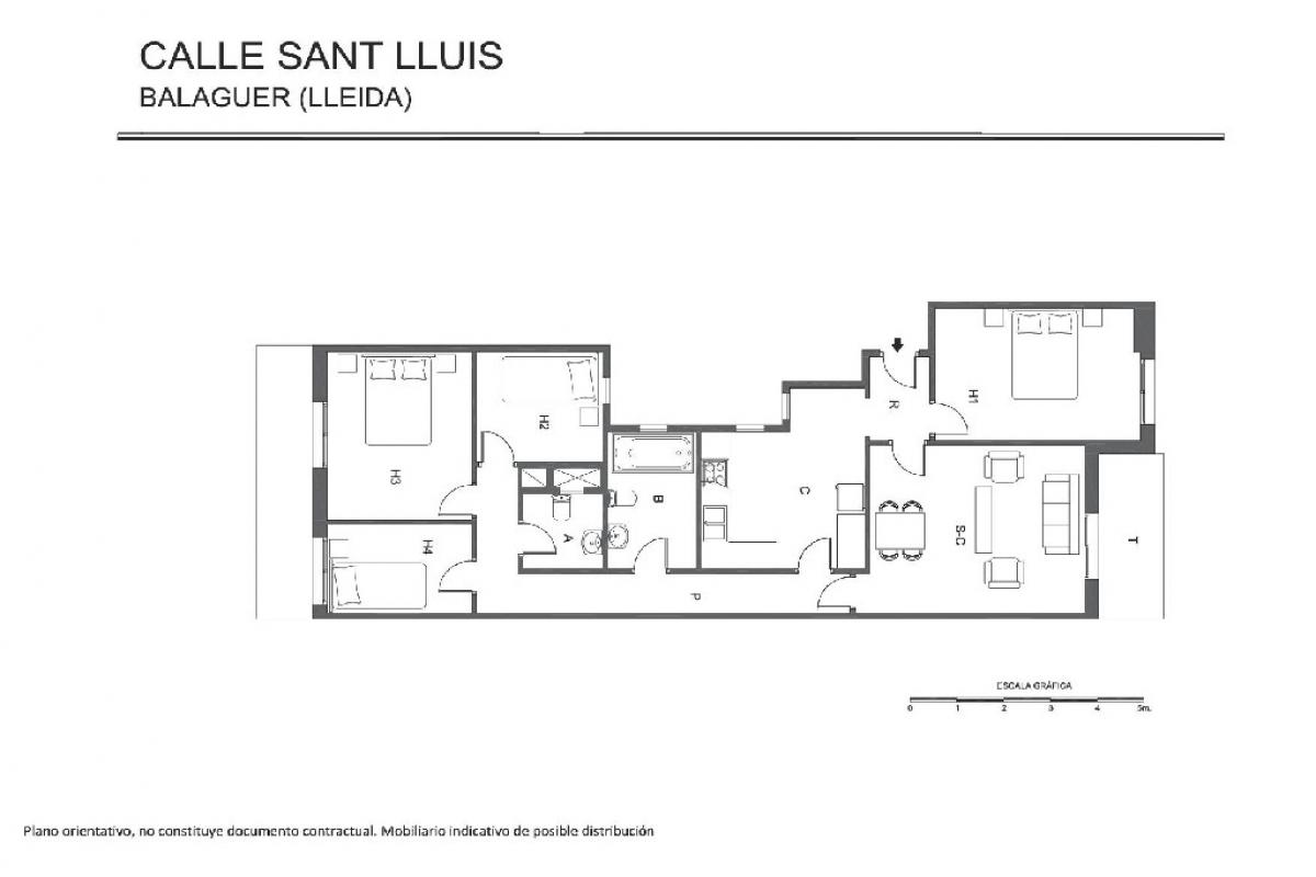 Piso en venta en Balaguer, Lleida, Calle Sant Lluis, 34.500 €, 4 habitaciones, 2 baños, 97 m2