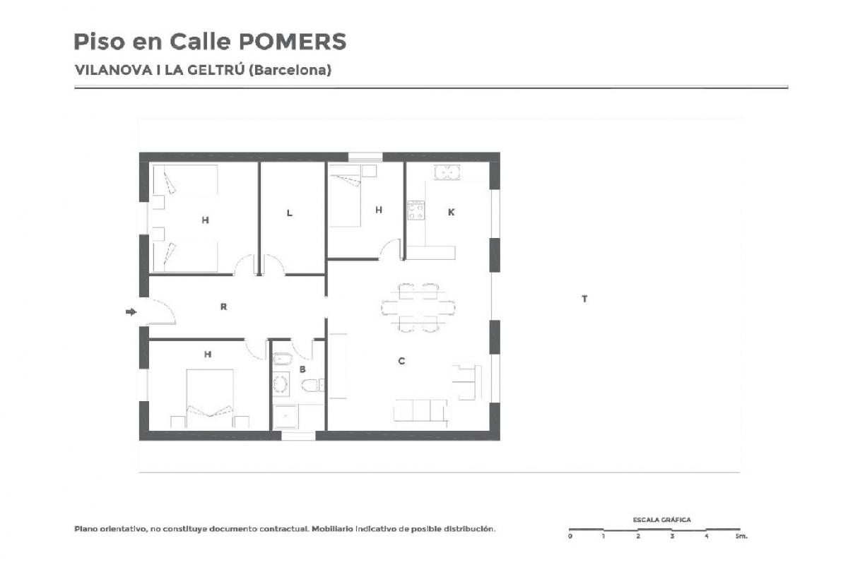 Casa en venta en Vilanova I la Geltrú, Barcelona, Calle Pomes, 84.500 €, 3 habitaciones, 1 baño, 78 m2