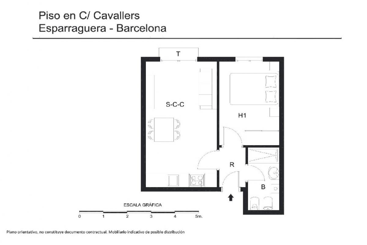 Piso en venta en Esparreguera, Barcelona, Calle Cavallers, 78.500 €, 1 habitación, 1 baño, 46 m2