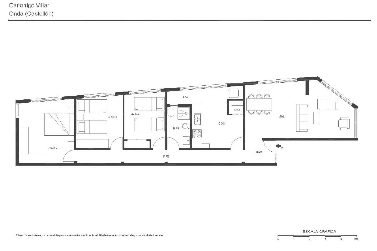 Piso en venta en Onda, Castellón, Calle Canonigo Villar, 35.500 €, 3 habitaciones, 1 baño, 109 m2