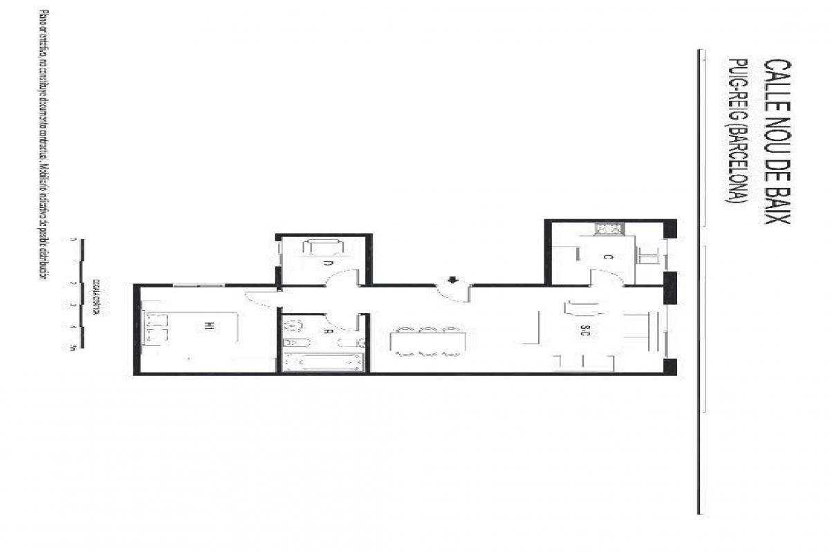 Piso en venta en Puig-reig, Barcelona, Calle Nou de Baix, 51.000 €, 2 habitaciones, 1 baño, 80 m2