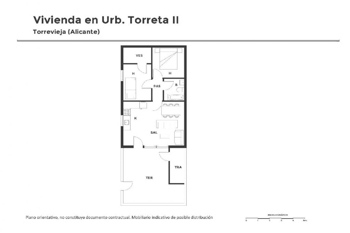 Casa en venta en Torrevieja, Alicante, Calle Finca Torreta Segunda, 42.000 €, 2 habitaciones, 1 baño, 43 m2