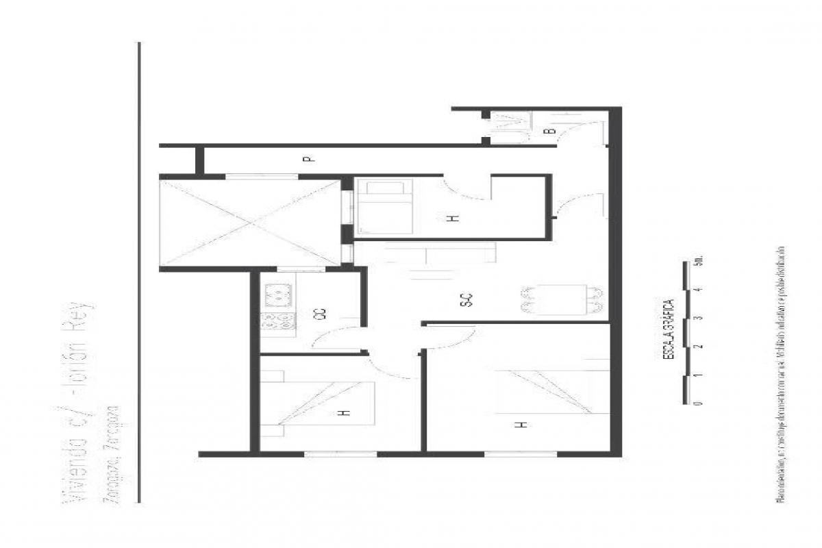 Piso en venta en Zaragoza, Zaragoza, Calle Florian Rey, 76.000 €, 3 habitaciones, 1 baño, 62 m2