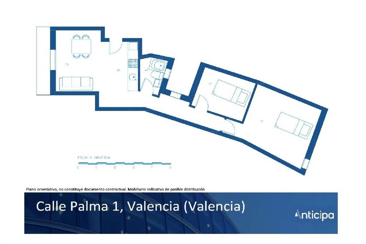 Piso en venta en Ciutat Vella, Valencia, Valencia, Calle Palma, 147.500 €, 2 habitaciones, 1 baño, 60 m2