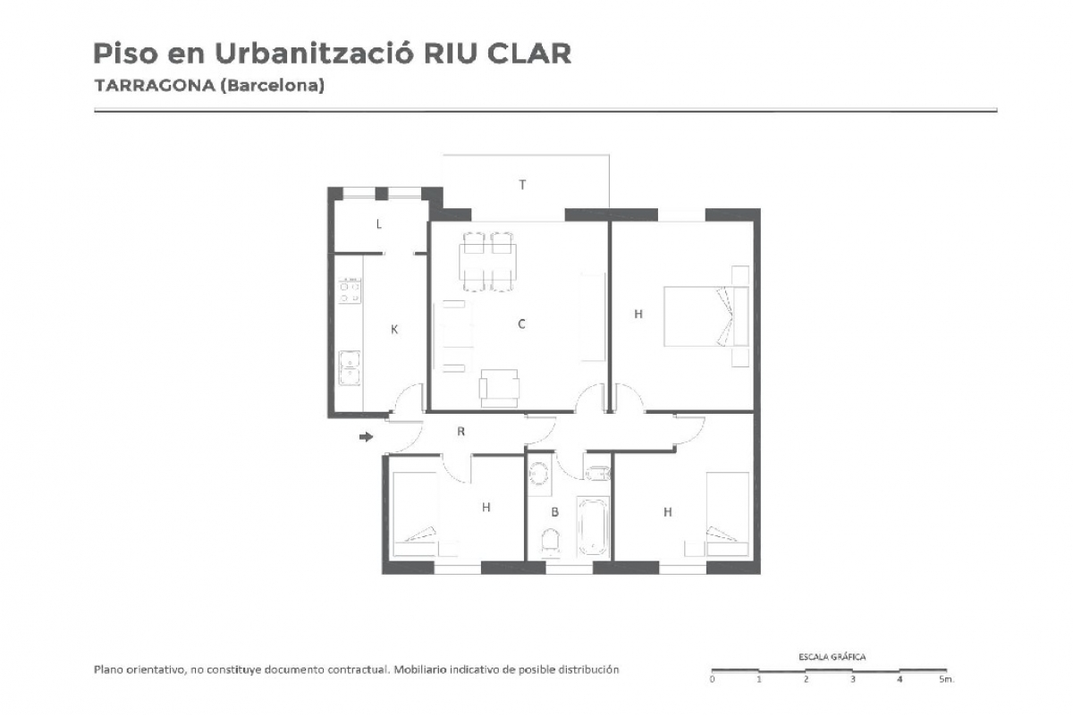 Piso en venta en La Floresta, Tarragona, Tarragona, Calle Pd Riu Clar, 68.500 €, 3 habitaciones, 1 baño, 90 m2
