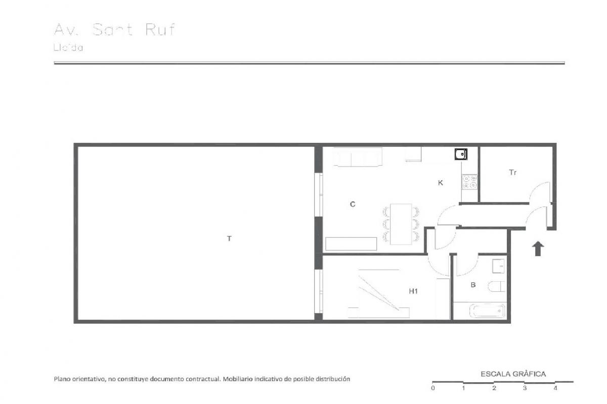 Piso en venta en Lleida, Lleida, Avenida Sant Ruf, 101.000 €, 1 habitación, 1 baño, 71 m2