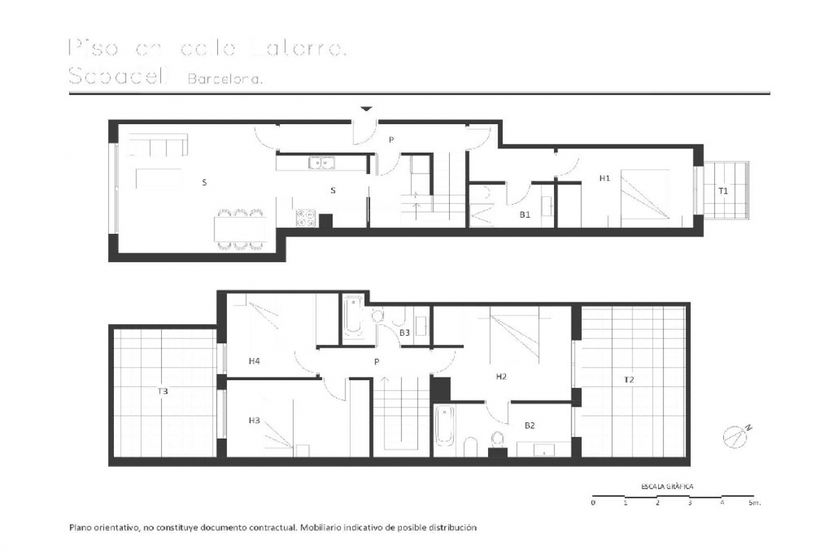 Piso en venta en Sabadell, Barcelona, Calle Latorre De, 305.500 €, 4 habitaciones, 3 baños, 143 m2