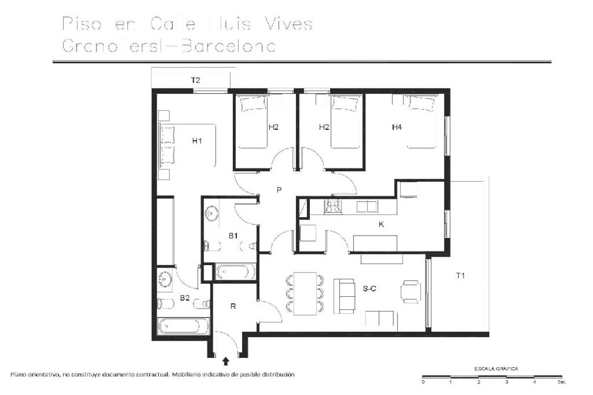 Piso en venta en Granollers, Barcelona, Calle Lluis Vives, 261.000 €, 4 habitaciones, 2 baños, 130 m2