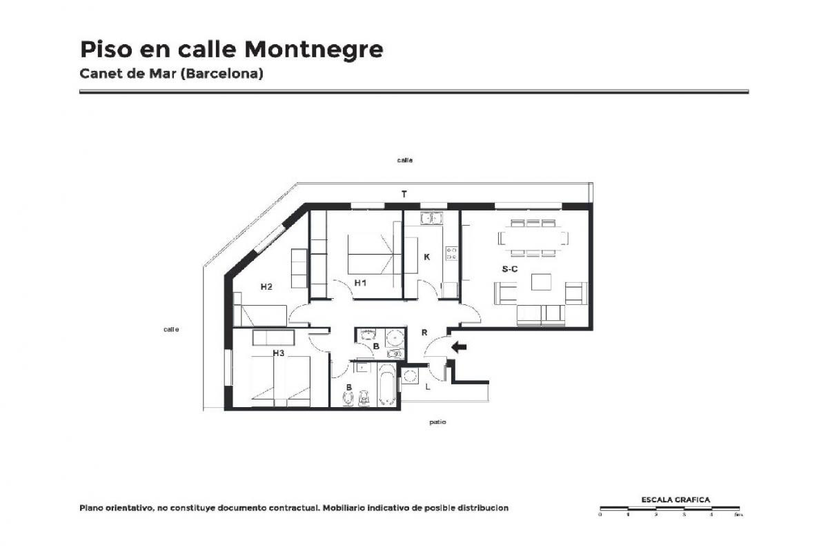 Piso en venta en Canet de Mar, Barcelona, Calle Montnegre, 125.500 €, 3 habitaciones, 2 baños, 111 m2