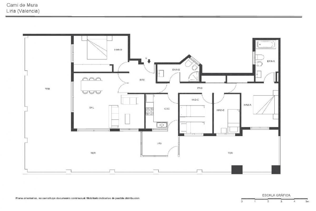 Piso en venta en Llíria, Valencia, Calle Cami de Mura, 121.500 €, 4 habitaciones, 2 baños, 144 m2