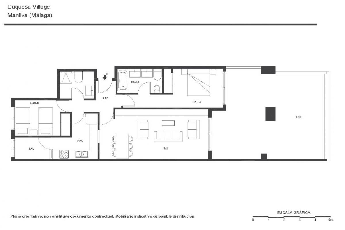 Piso en venta en Coto de Caza, Manilva, Málaga, Calle Duquesa Village, 152.000 €, 2 habitaciones, 2 baños, 130 m2