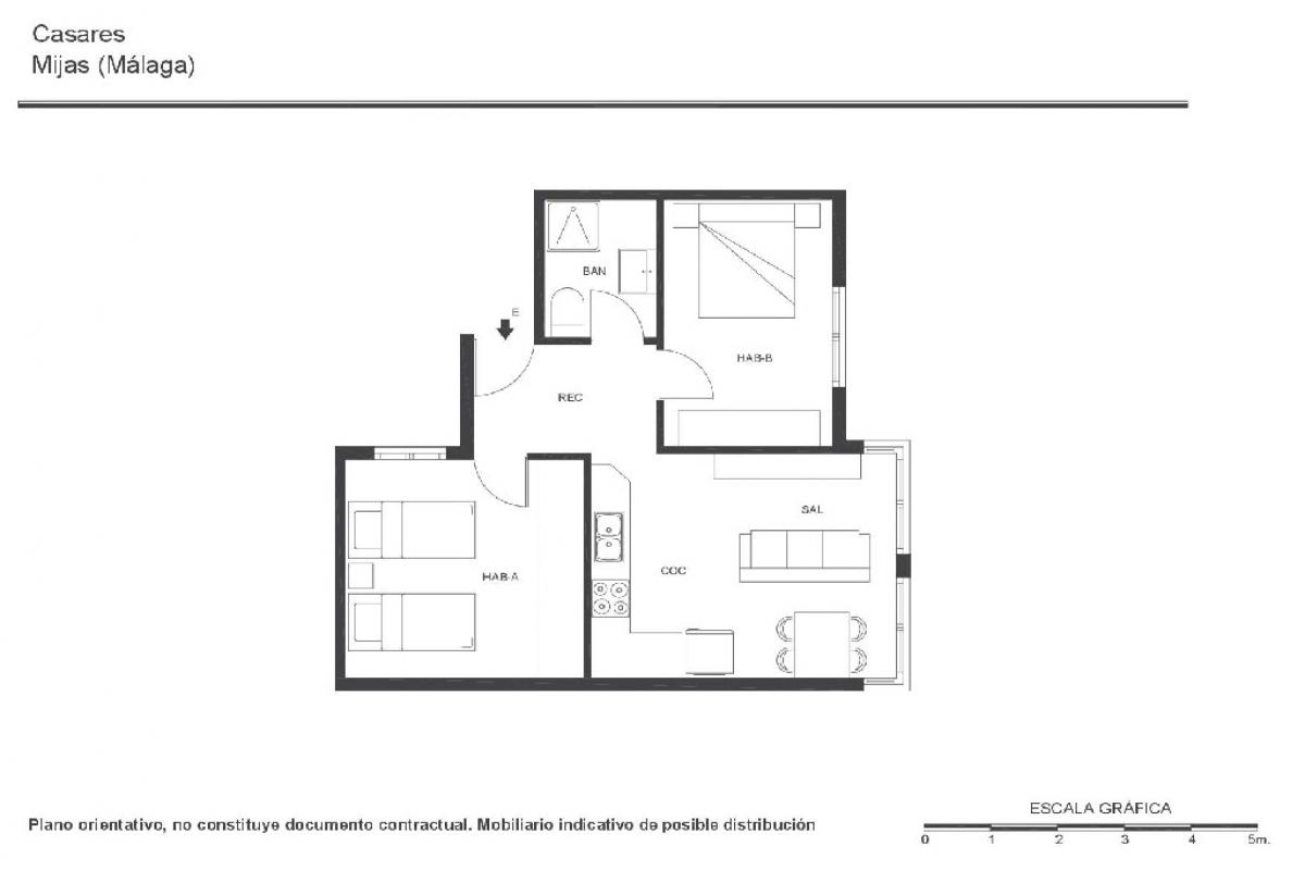 Piso en venta en Coto de Caza, Mijas, Málaga, Calle Casares, 121.500 €, 2 habitaciones, 1 baño, 57 m2