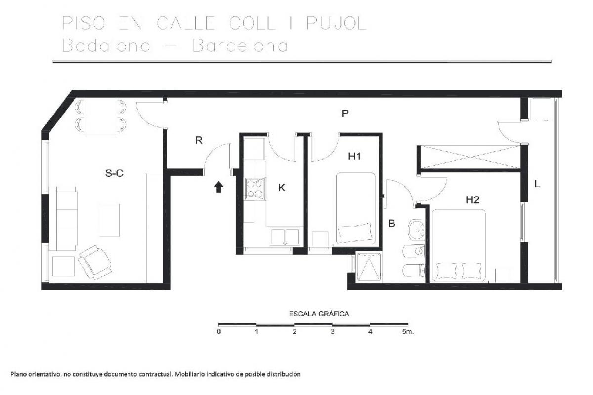 Piso en venta en Badalona, Barcelona, Calle Coll I Pujol, 183.500 €, 2 habitaciones, 1 baño, 70 m2