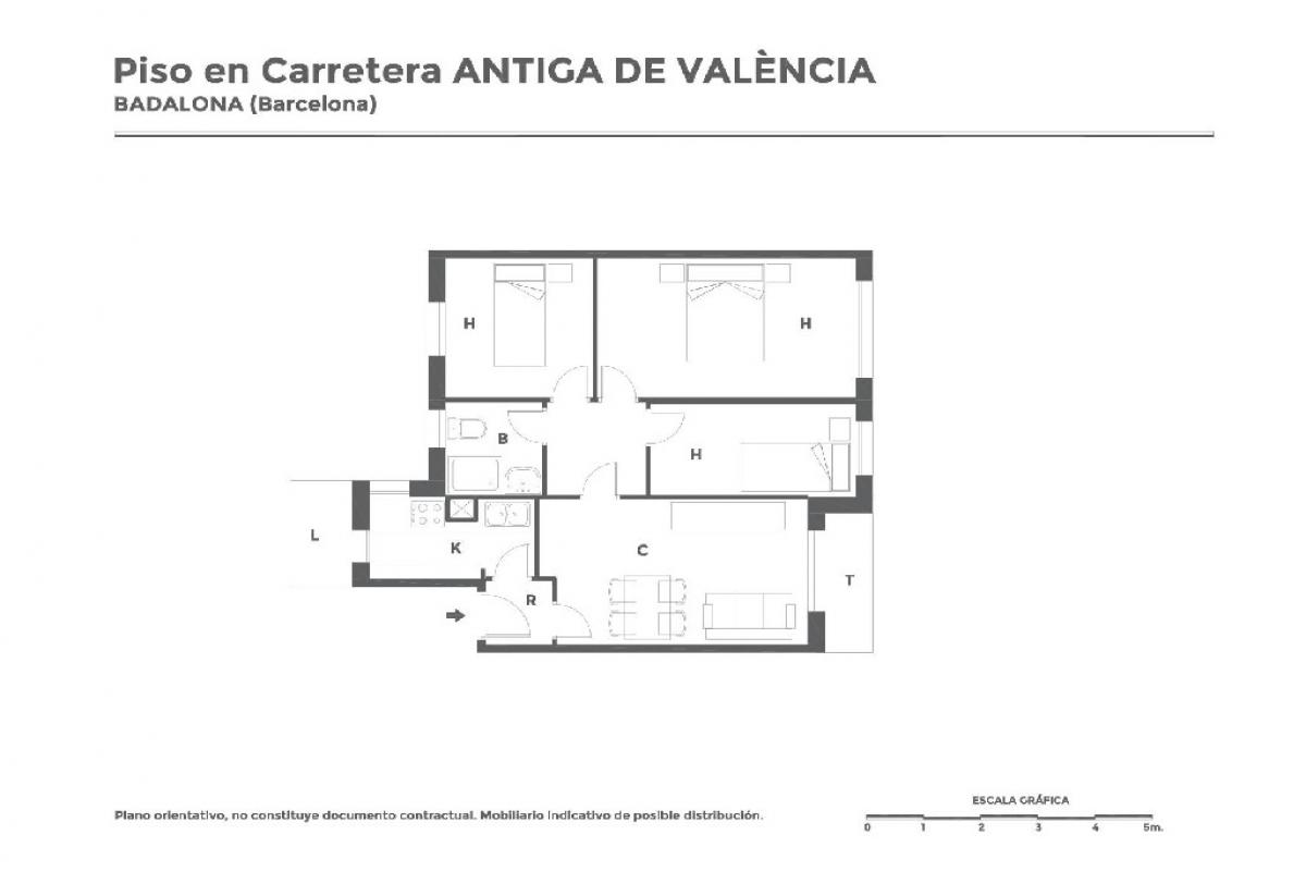 Piso en venta en Badalona, Barcelona, Carretera Cuesta Antiga de Valencia, 154.500 €, 2 habitaciones, 1 baño, 65 m2