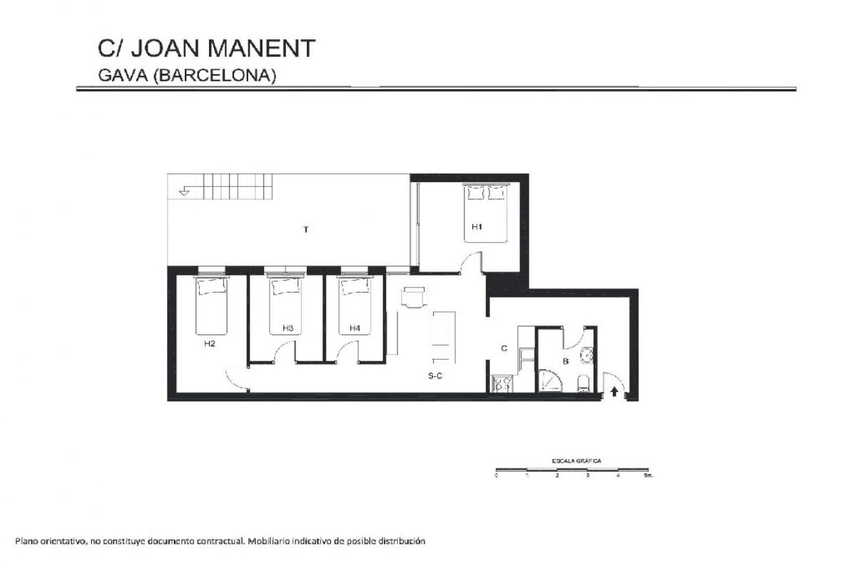 Piso en venta en Coto de Caza, Gavà, Barcelona, Calle Joan Manent, 227.500 €, 4 habitaciones, 1 baño, 101 m2