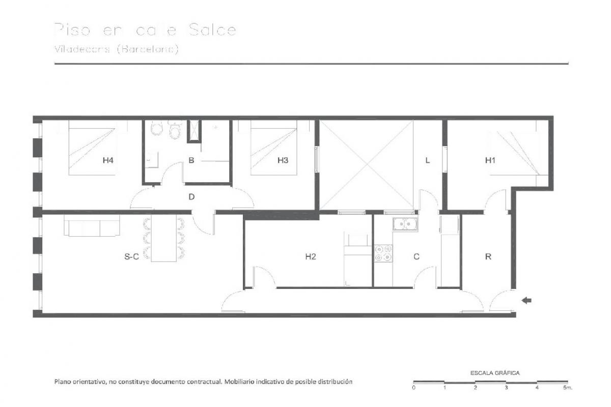 Piso en venta en Viladecans, Barcelona, Calle Salze, 211.000 €, 4 habitaciones, 1 baño, 112 m2