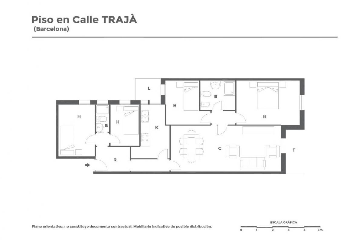 Piso en venta en Barcelona, Barcelona, Calle Traja, 329.500 €, 4 habitaciones, 2 baños, 89 m2