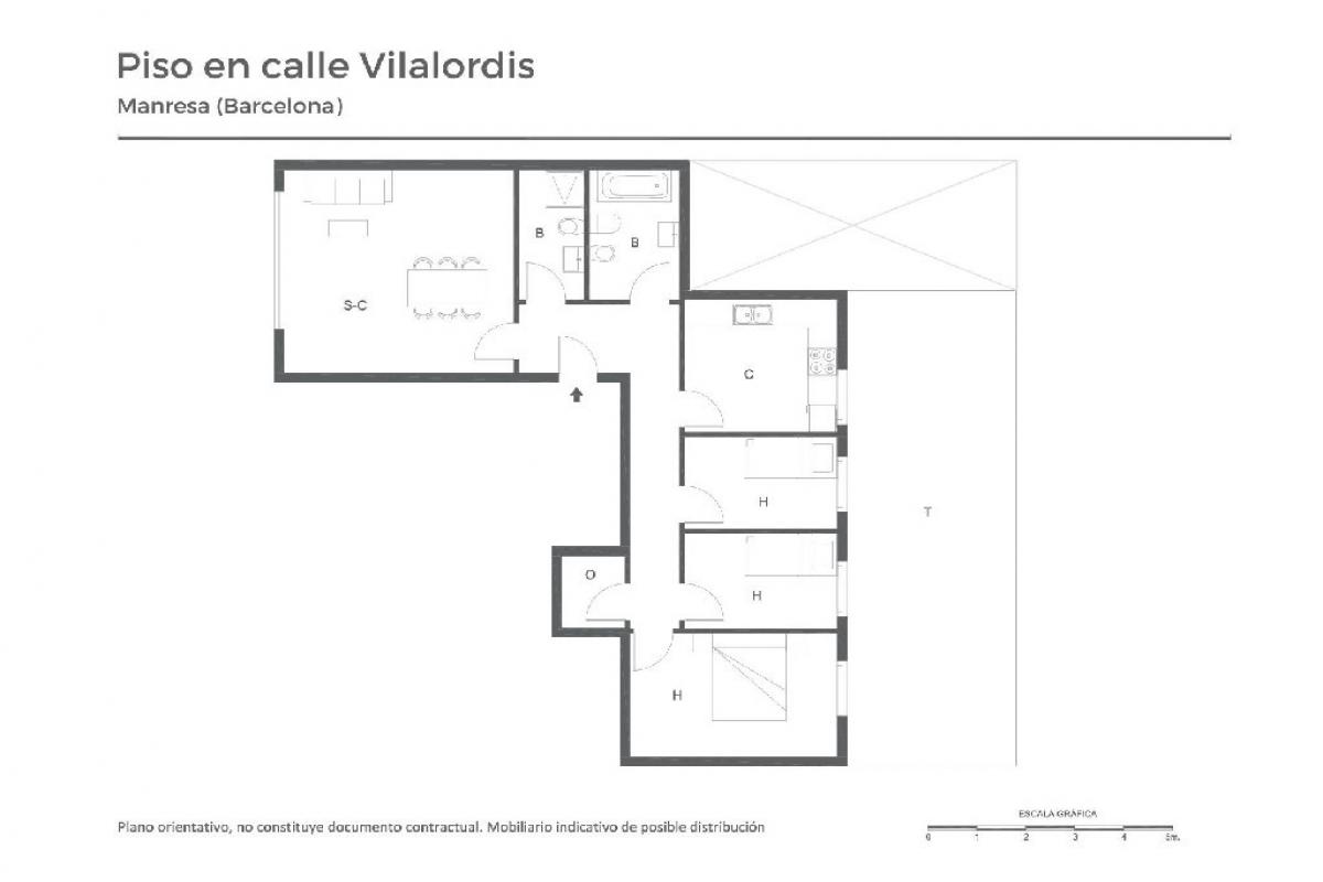 Piso en venta en Manresa, Barcelona, Calle Viladordis, 124.000 €, 3 habitaciones, 2 baños, 94 m2