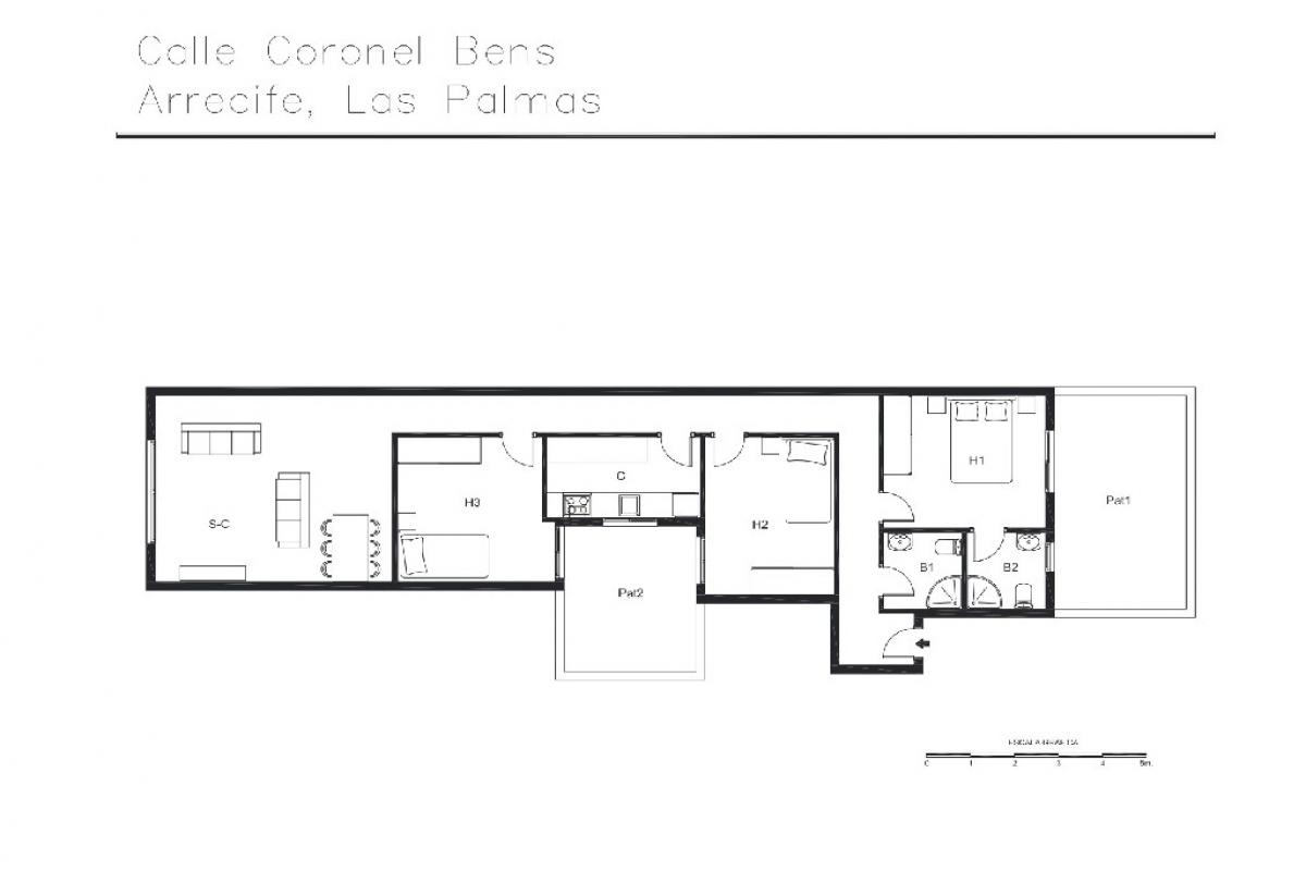 Piso en venta en Piso en Arrecife, Las Palmas, 130.500 €, 3 habitaciones, 2 baños, 113 m2