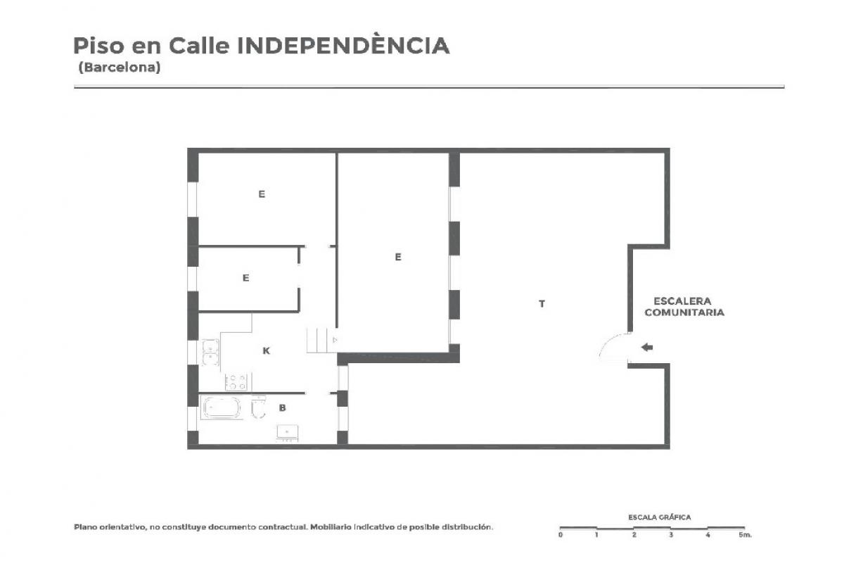 Piso en venta en Barcelona, Barcelona, Calle Independencia, 176.000 €, 2 habitaciones, 1 baño, 40 m2