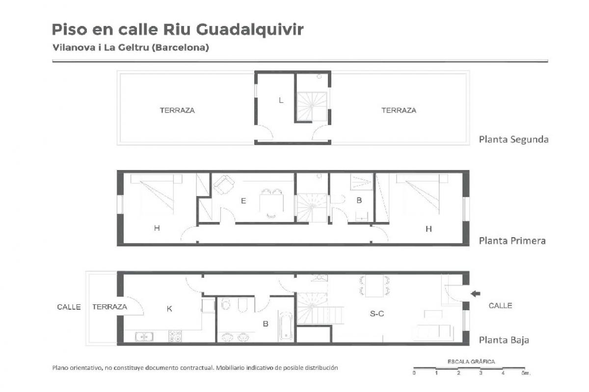 Casa en venta en Vilanova I la Geltrú, Barcelona, Calle Riu Guadalquivir, 208.000 €, 2 habitaciones, 1 baño, 127 m2